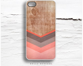 iPhone 6S Case, iPhone 6S Plus Case Wood Print, iPhone 5s Case Chevron, iPhone 6 Case, Geometric iPhone Case, Coral Chevron iPhone Cover I96