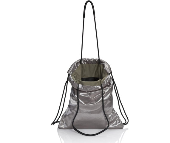 Sports bag silver canvas backpack sack bag multi-way