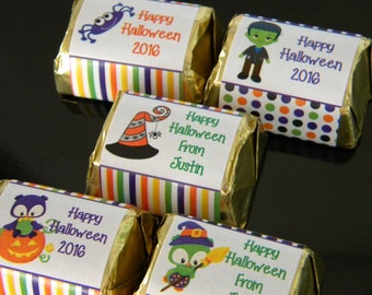 Halloween Hershey Nugget Stickers - Personalized Halloween Favors - Cute Halloween Party Favors - Halloween Nuggets - Halloween Party Decor
