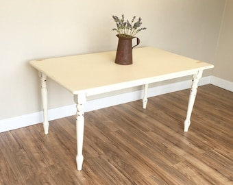 Distressed Kitchen Table - Small White Dining Table - Country Cottage Furniture - Farmhouse Kitchen Table - Small Farmhouse Table