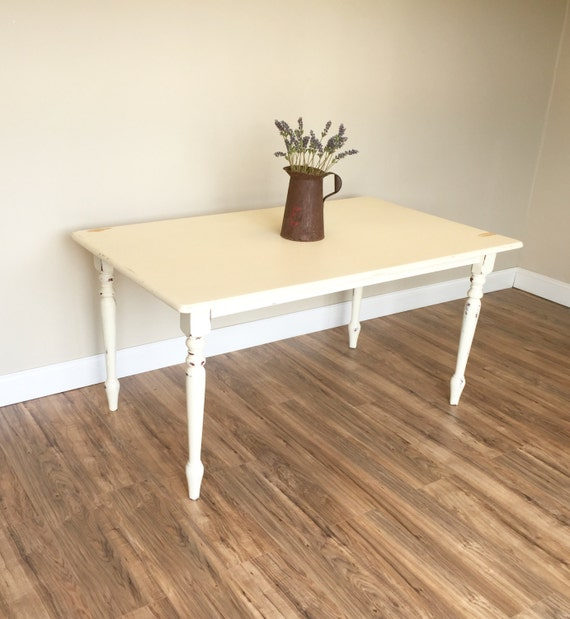 Country Kitchen Table: Distressed Kitchen Table Small White Dining Table Country