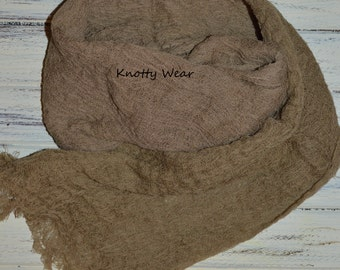 Tan Ombre Hand Dyed Cheesecloth