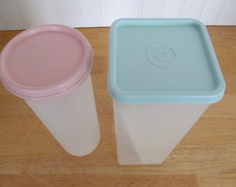 Tupperware Cheese Keeper and Pasta Keeper Aqua Pink