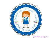 Personalized PRINTED Daisy troop stickers daisy favor sticker scout stickers daisy troop stickers cookie stickers daisy labels