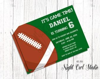 Football Invitation-Football Birthday Invite-Futbol Americano- Birthday-Printable-Invite