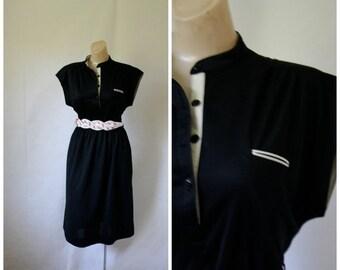 Sale 1970's Dress / Vintage Dress / Little Black Dress / LBD / Vintage 1970's Dress / Jody California S/M