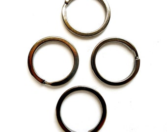 4 Gunmetal Split Loop Open Jump/Key Rings 25mm - 10-2
