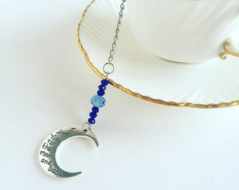 Tea Infuser Moon Charm Mesh Tea Ball~loose tea~ blue~Love you to the moon and back~