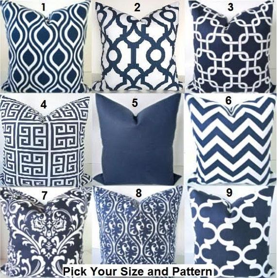 Blue pillows blue throw pillows navy blue by sayitwithpillows for Euro shams ikea