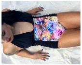 Echo Floral Halter One Piece Swimsuit