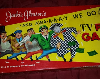 "Vintage Jackie Gleason ""And Away We Go"" Board Game"