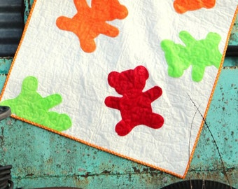 Gummie Bears quilt - in 3 sizes - printed quilt instructions