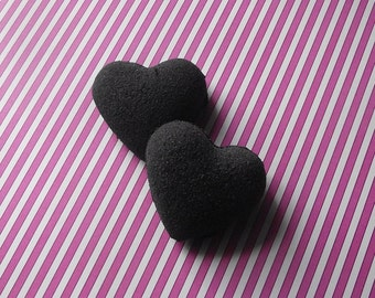 My Little Black Heart - Black Bath Bombs - Gothic Goth Witch - Bath Bombs - Bath Fizzies - Set of 3 - Party Cute GIfts Fun Kids Woman Teens