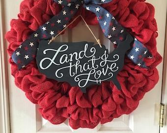 Land that I Love wreath