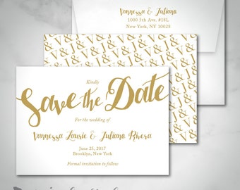 Save The Date | Vanessa | Simple Bold Text | Calligraphic