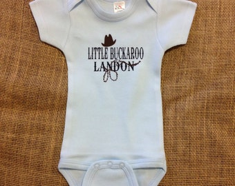 Little Buckaroo Baby Onesie // Cowboy Bodysuit //