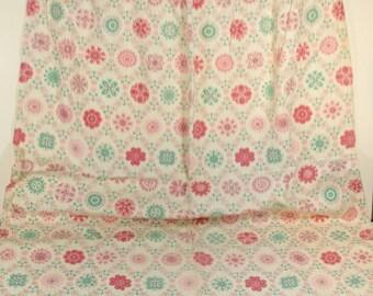 Vintage Midcentury Curtain Panel - Pastel Geometric