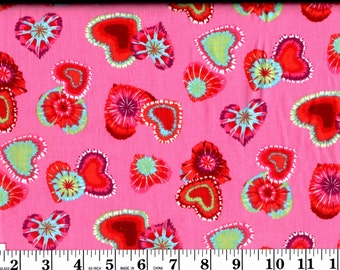 1 Yard, Tie Dyed Hearts David Textiles