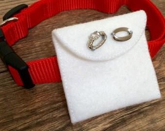 Wedding Dog Collar Decoration-Ring Bearer Dog Collar-Felt Dog Wedding Collar Decor-Dog Wedding Ring Carrier-Dog Wedding Proposal