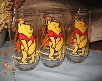 3 glasses Winnie the Pooh by Disney