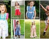 Hampton Romper, Top and Dress PDF Pattern instant download size 1/2-8