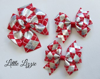 Big Sister, Little Sister, Clip set, Pinwheel clips, Christmas bows, Christmas Clips
