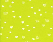 Cotton + Steel Meadow in Citrus by Alexia Abegg Print Shop Neon Yellow Floral Fabric Modern Fabric Bright Yellow Floral Neon Fabric