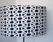 Meliniki Lace lampshade handmade in Great Britain