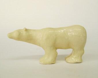 Polar Bear Sculpture, Ceramic Polar Bear, Bear Sculpture, Ceramic Sculpture, Animal Sculpture,Art and Collectibles