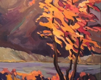 Acadia in the Fall Original Oil Paintinhg