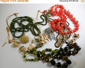 ON SALE Vintage Costume Jewelry Lot  Destash for Repair or Crafts