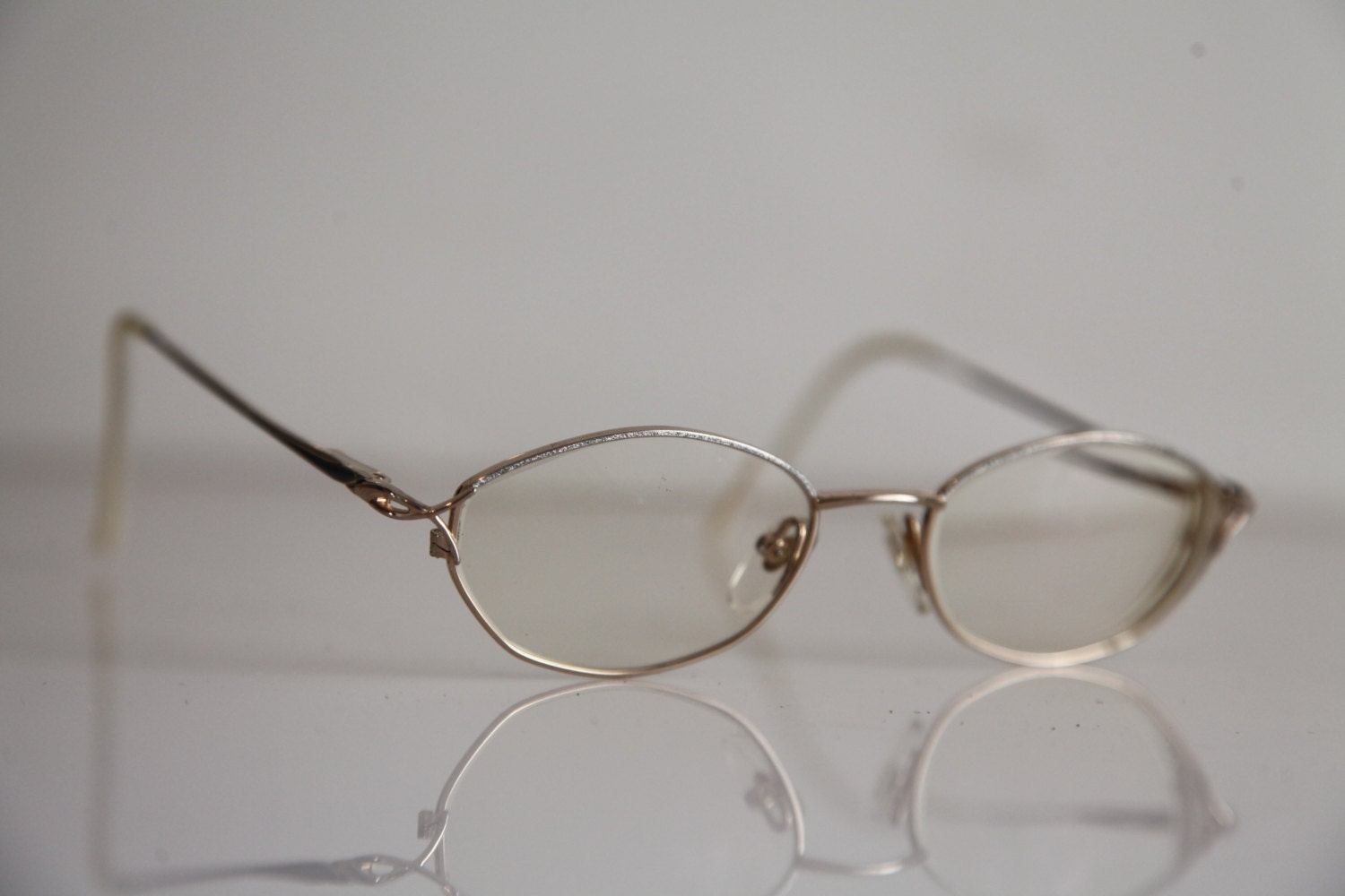 Gold And Silver Eyeglass Frames : Vintage AMA Eyewear, Gold and Silver Frame, RX-Able ...