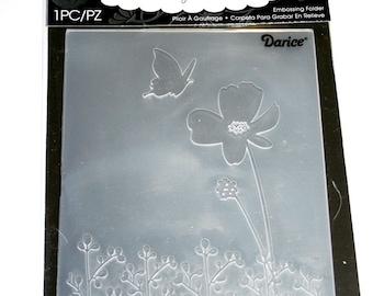 Butterfly Flower Embossing Folder from Darcie Inc