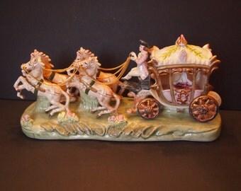 Capodimonte Porcelain Cinderella and Carriage