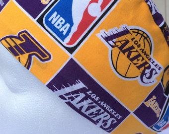 Los Angeles Lakers scrub cap  chemo cap  Lakers riding cap