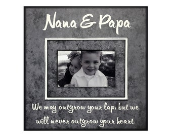 we will never outgrow your heart grandparent gift from grandchildren picture frame for nana papa personalized frame customized frame