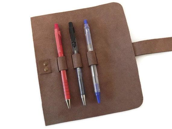 Rouler en cuir stylo roll tui crayon en cuir tui - Comment enlever du stylo sur du cuir ...