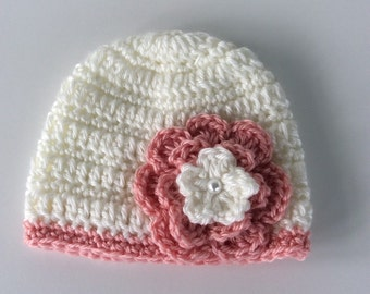 Crochet baby hat 0-3 months