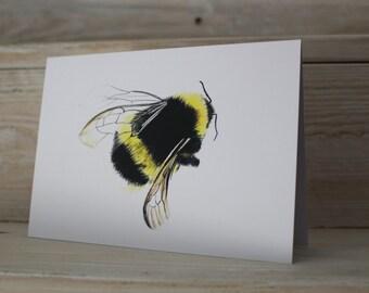 Blank Bumblebee Greeting Card