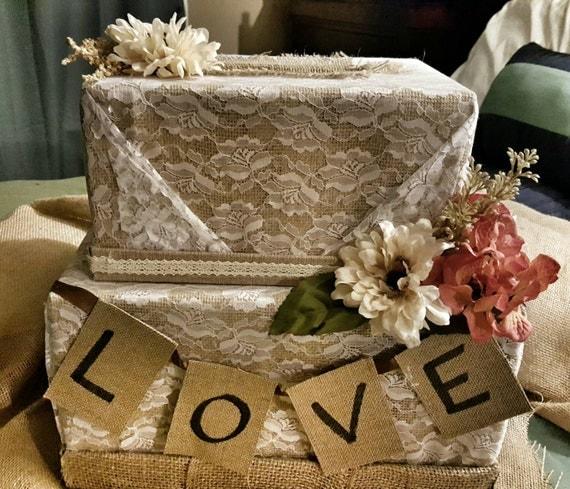Fall Wedding Gift Card Box : ... box- Shabby Shic wedding-Wedding card box-autumn wedding card box-gift