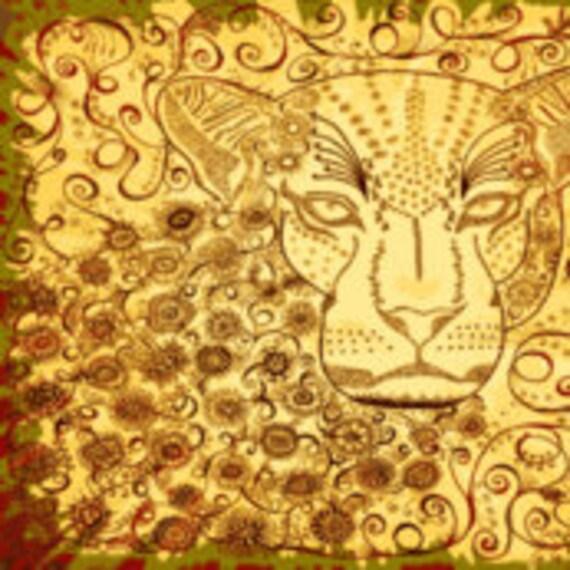 """Leopard zen Kalahari 18"""" x 21"""""""