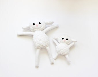 White Lamb Choose Size or Mommy And Me Set Plush Fleece