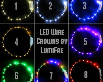 Embellished LED Wire Crowns, Pick your color, Made-to-Order