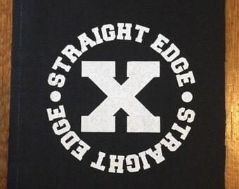 Straight Edge Patch. Screen Printed. XXX SXE Hardcore Punk