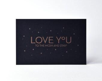 Love you - Letterpress card