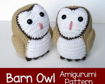 Crochet Pattern: Barn Owl Amigurumi Pattern PDF