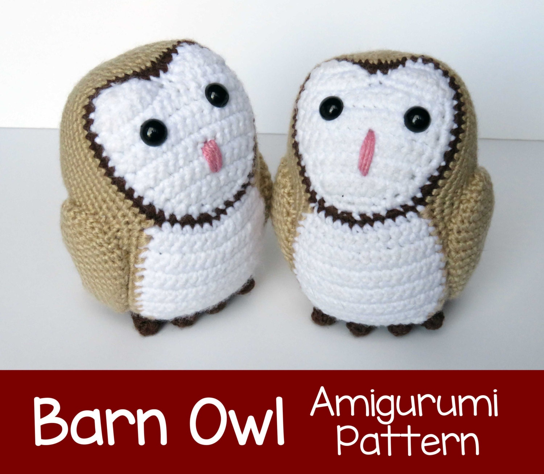 Amigurumi Barn Owl : Crochet Pattern: Barn Owl Amigurumi Pattern PDF
