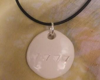 Seasons porcelain pendant