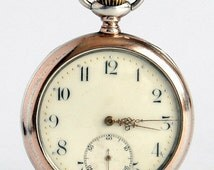 SALE - Silver watch 'ZENITH' watch , Made in 1800s, WORKING watch, Swiss Watch, Pocket watch, Mens Watch