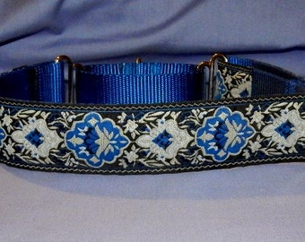 Blue and Black collar
